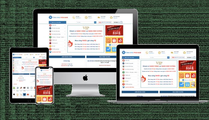 Thiet ke Website ecommerce TMDT chuan SEO Halomedia