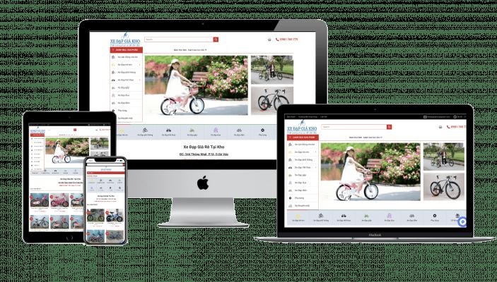 Thiet ke Website shop xe dap chuan seo Halomedia
