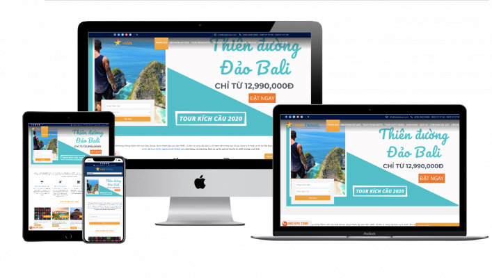 Thiet ke Website chuan seo Tour du lich Halomedia