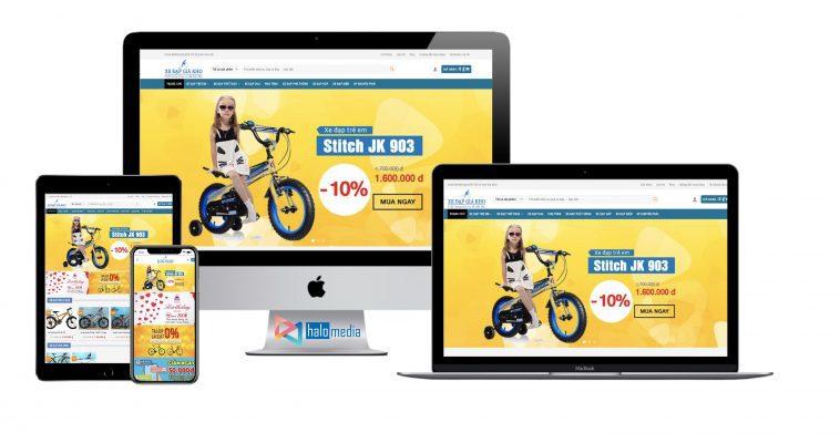 Thiết kế website SHOP Bán xe đạp Online chuẩn seo