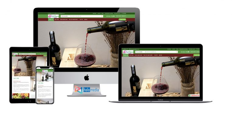 thiet ke website Wine & Food halo-media