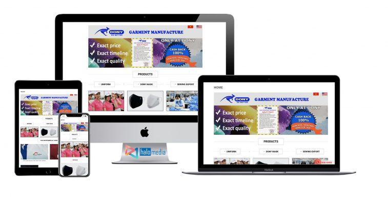 thiet ke website may mặc dony halo-media