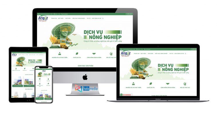 thiet ke website nong nghiep ban hang nong nghiep phan bon thuoc tru sau halo-media